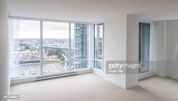 Empty living room, new condo apartment