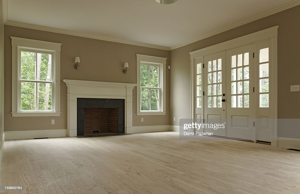 Empty Living Room Of Classic Home Stock Photo