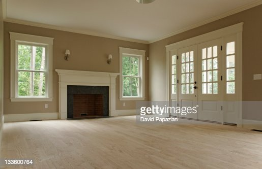 Empty Living Room Of Classic Home Stock Photo | Getty Images
