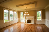 Empty living room in beautiful home.