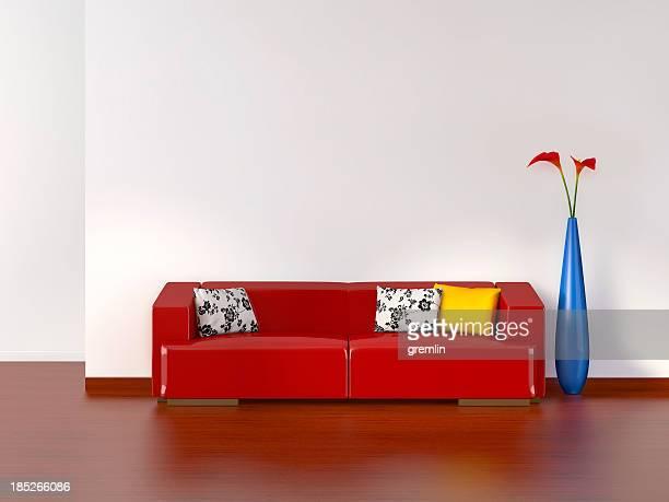 Vazia sala de estar com Sofá