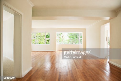 Empty Living Room With White Walls Stock Photo Getty Images