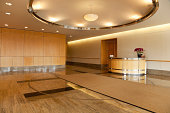 Empty lobby area in office building