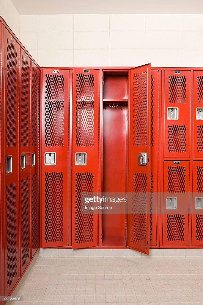 Empty locker room