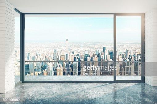Fenster Loft leere loft zimmer mit großen fenster in etage stock foto thinkstock