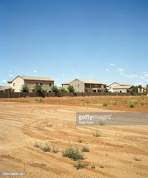 Empty lot in housing development