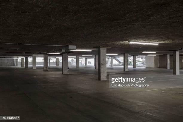 Empty lot in parking building