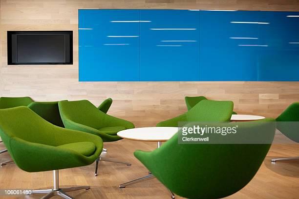 Empty lunchroom in modern office building