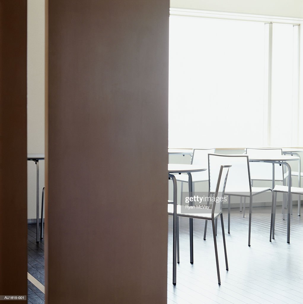 Empty lunchroom in office building : Stock Photo