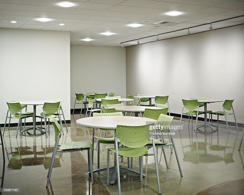 Empty lunchroom in office