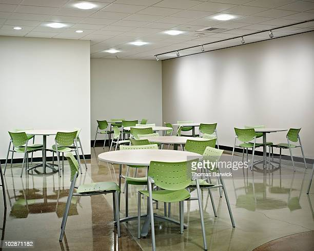 Empty lunchroom in office
