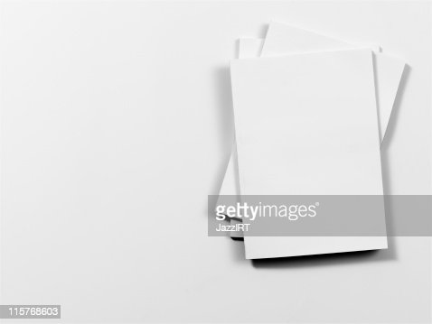 Empty magazine covers on white background