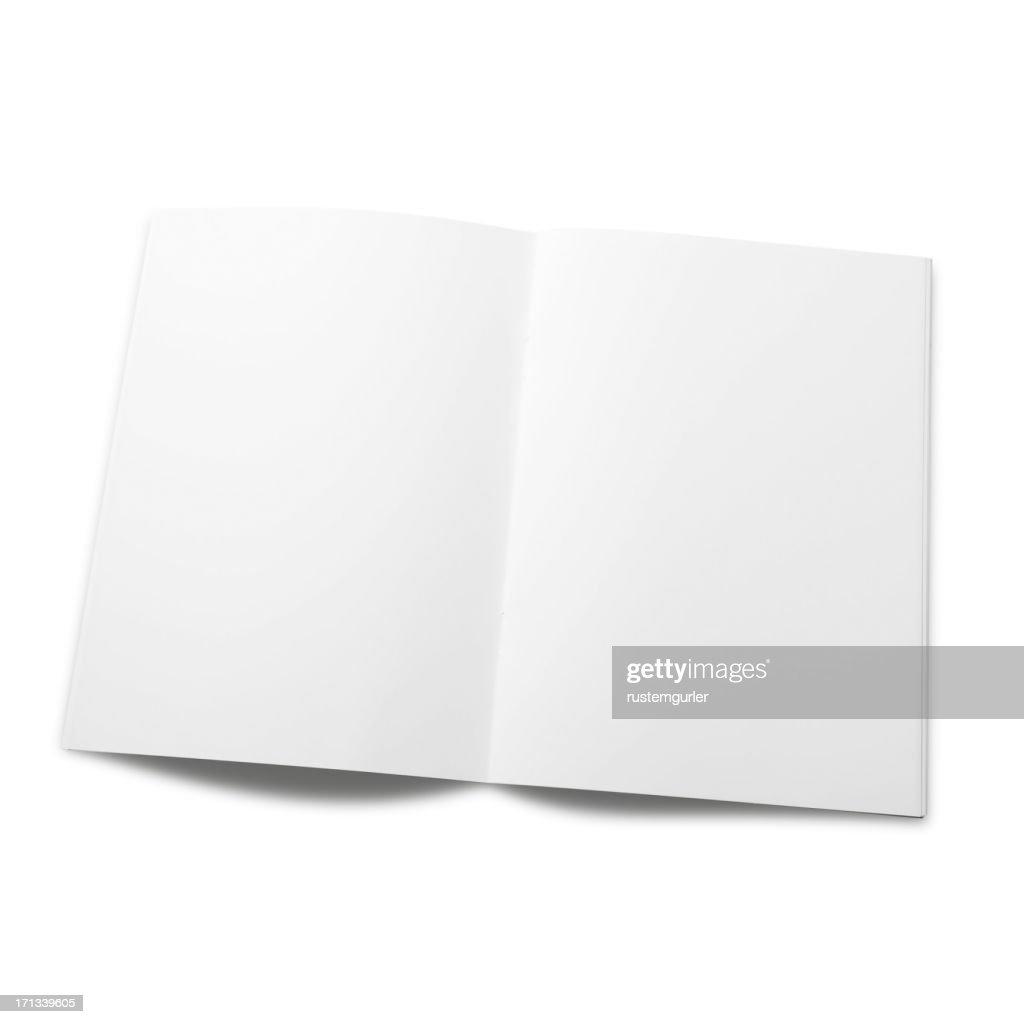 Empty magazine page