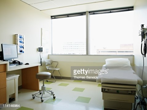 Empty medical exam room