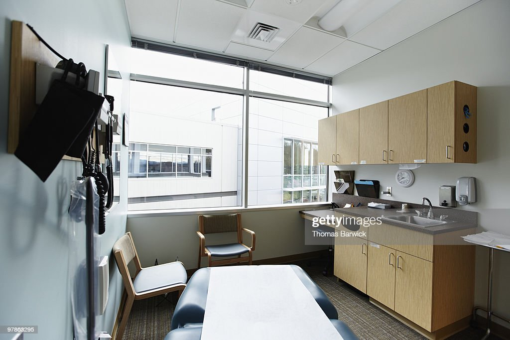 Empty medical exam room