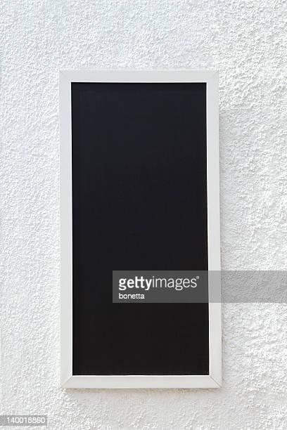 Empty menu board