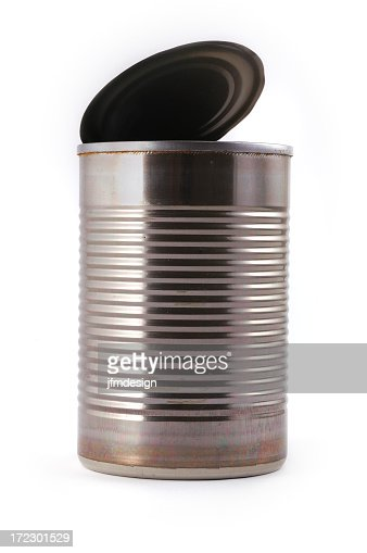 empty metallic open can 2
