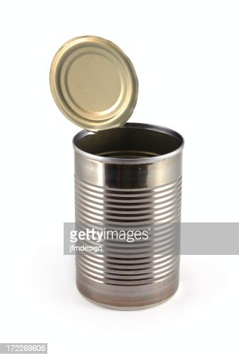 empty metallic open can