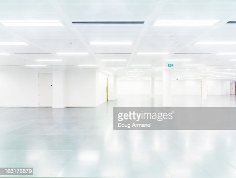 Empty modern office interior : Stock Photo