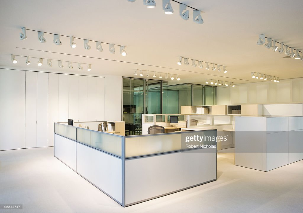 Empty, modern, open plan office : Stock Photo