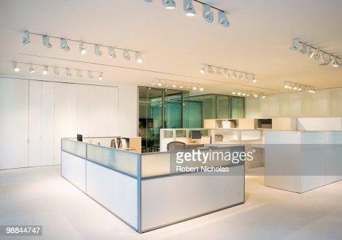 Empty, modern, open plan office