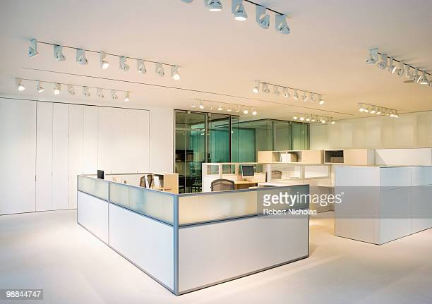 Empty, modern, open plan office