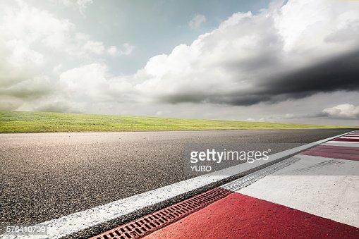 Empty motor racing track