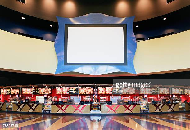 Empty Movie Theater Lobby