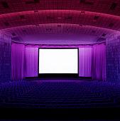 Empty movie theatre