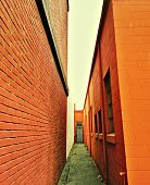 Empty Narrow Alley