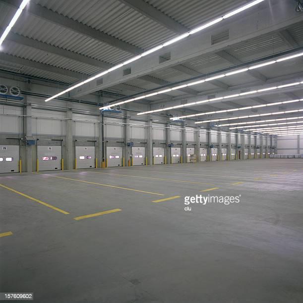 Empty new fabrication hall