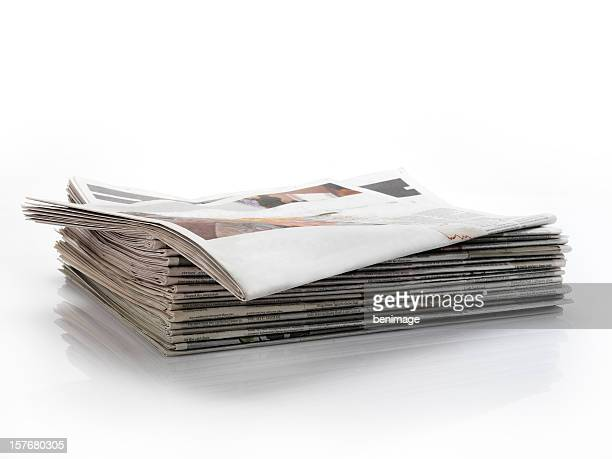 empty newspaper headline