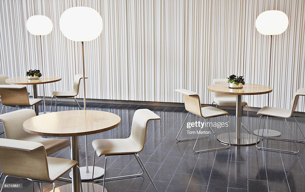 Empty office break room
