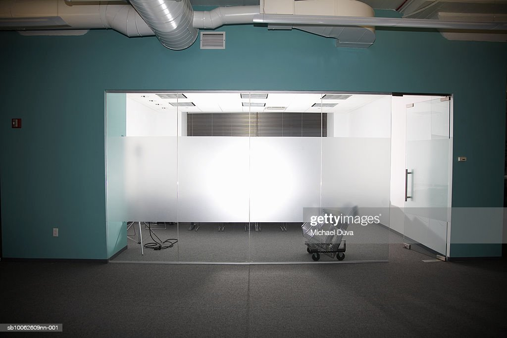 Empty office cabin : Stock Photo