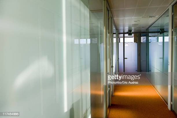 Empty office corridor