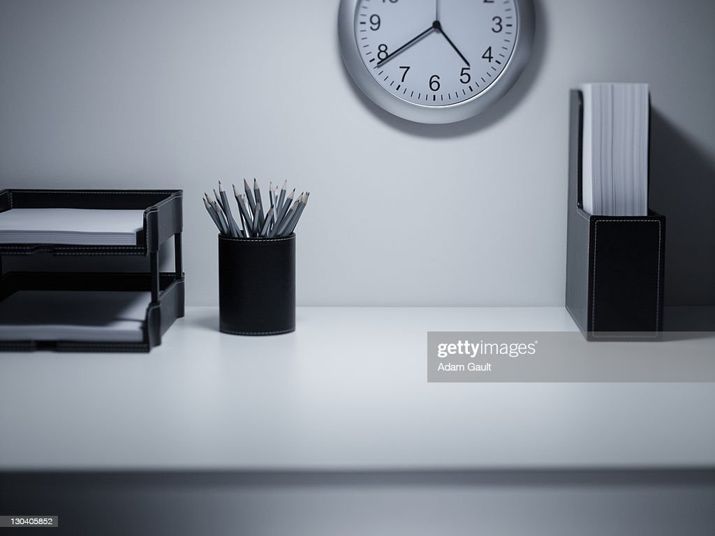 Empty office desk