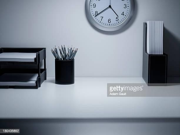 Empty office desk