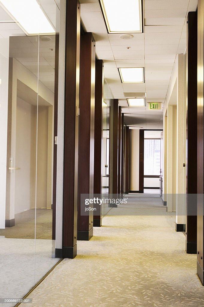 Empty office hallway : Stock Photo