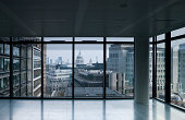 'Empty office, overlooking St Paul's, London'