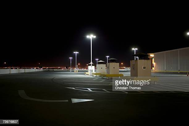 Empty parking lot at night, Las Vegas, Nevada