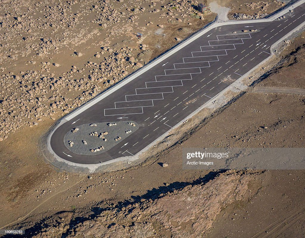 Empty parking lot in remote area : Stock Photo
