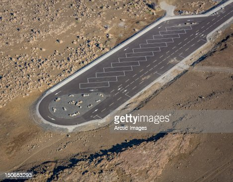Empty parking lot in remote area : Stockfoto