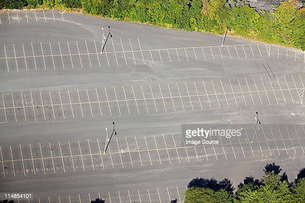 Empty parking lot, Newport County, Rhode Island, USA