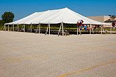 Empty Pavilion Tent Before Big Event