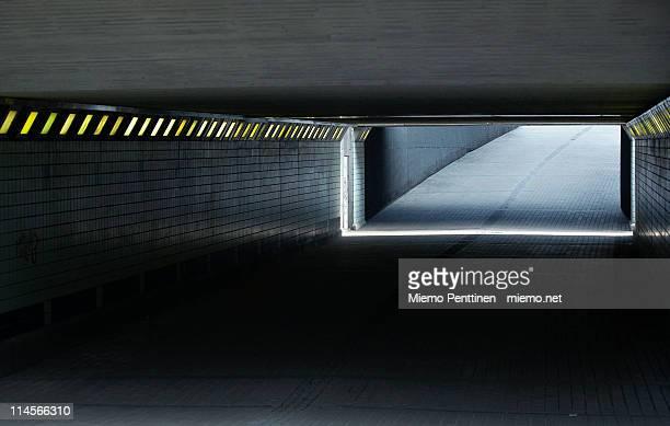Empty pedestrian underpass in Helsinki