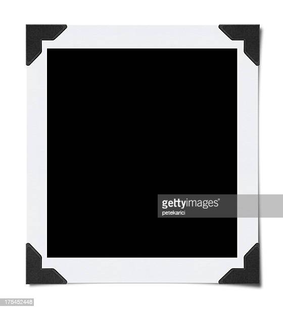 Empty Photo with Corners (Clipping Path)