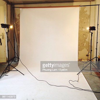 Empty Photographic Studio Ready For Shoot