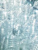 Empty plastic bottles, close-up