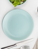 Empty plate on a dining table