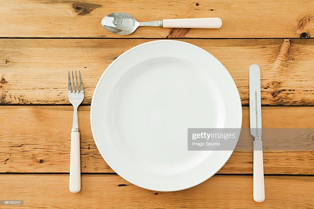 Empty plate : Stock Photo